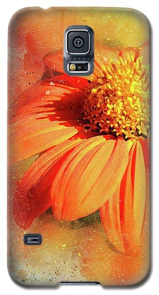 Abstract Orange Flower Galaxy S5 Case