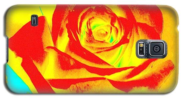 Single Orange Rose Abstract Galaxy S5 Case