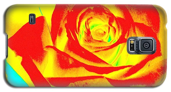 Single Orange Rose Abstract Galaxy S5 Case