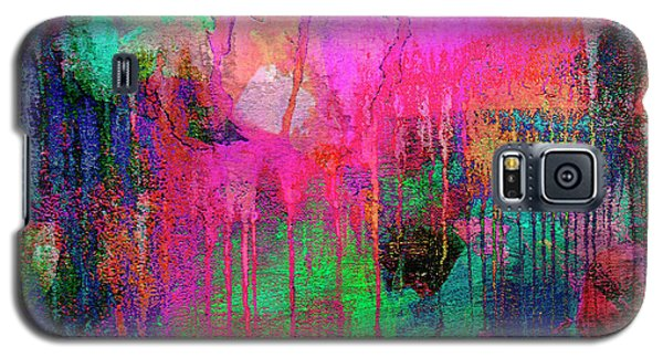 Abstract Painting 621 Pink Green Orange Blue Galaxy S5 Case