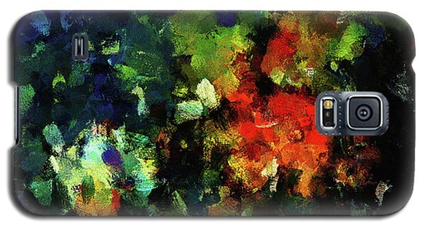 Galaxy S5 Case featuring the painting Abstract Painting In Dark Blue Tones by Ayse Deniz