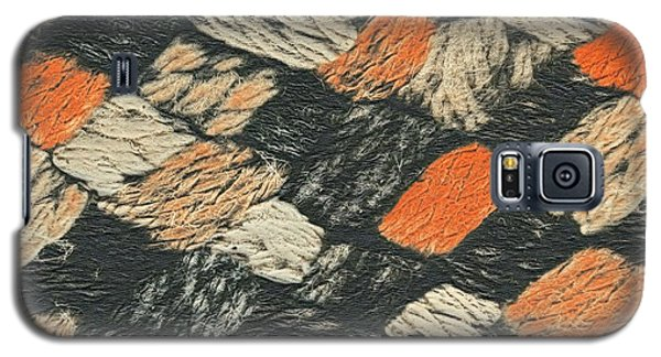 Abstract Pattern Black And Orange Galaxy S5 Case