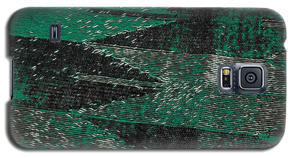 Abstract Pattern No.11 Green And Black Galaxy S5 Case