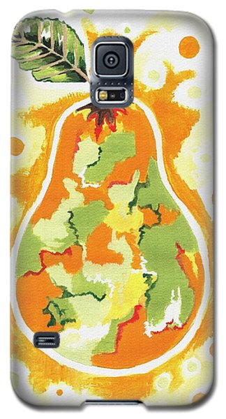 Galaxy S5 Case featuring the painting Abstract Pear by Kathleen Sartoris