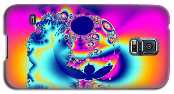 Abstract Pink And Turquoise Fractal Globe Galaxy S5 Case