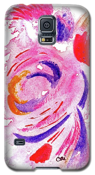 Abstract Pink Galaxy S5 Case