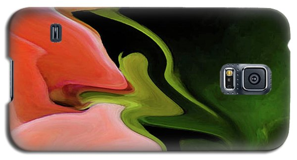 Abstract Pink Flowers Galaxy S5 Case