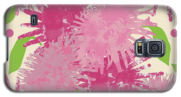 Abstract Pink Puffs Galaxy S5 Case