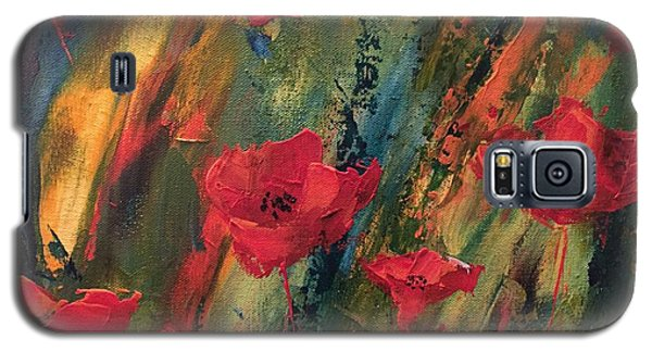 Galaxy S5 Case featuring the painting Abstract Poppies by Kristine Bogdanovich
