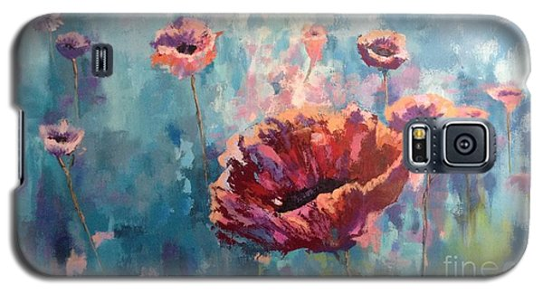 Abstract Poppy Galaxy S5 Case