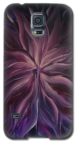 Abstract Purple Flower Galaxy S5 Case