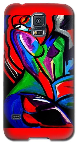 Abstract  Rain Bow Girl Galaxy S5 Case by Nora Shepley