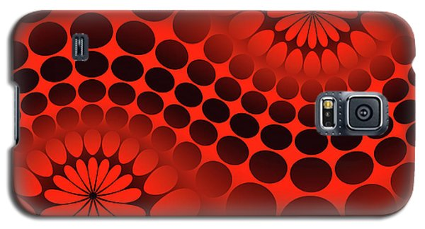 Galaxy S5 Case - Abstract Red And Black Ornament by Vladimir Sergeev