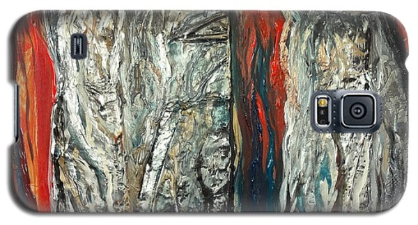 Abstract Red And Silver Latte Stones Galaxy S5 Case