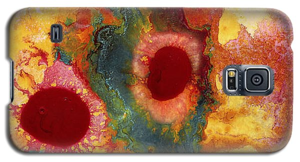 Abstract Red Flower Garden Panoramic Galaxy S5 Case