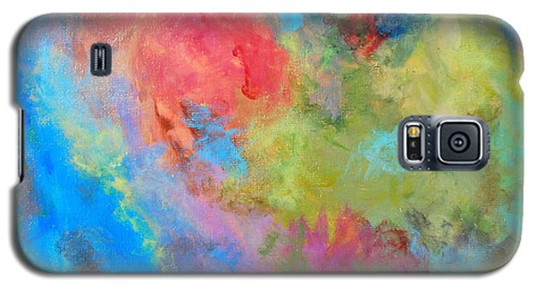 Galaxy S5 Case featuring the painting Abstract by Reina Resto