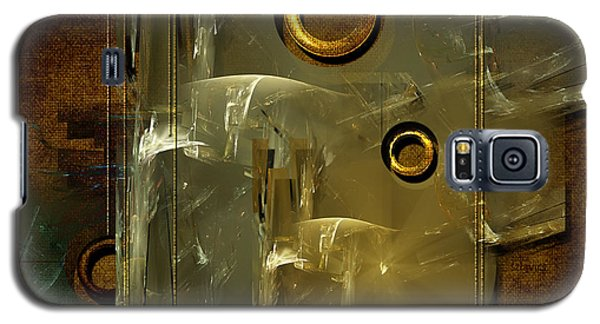 Galaxy S5 Case featuring the digital art Abstract Rings by Alexa Szlavics