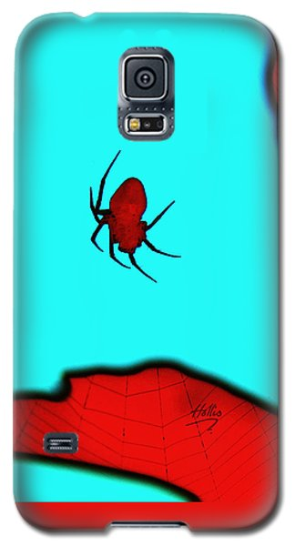 Galaxy S5 Case featuring the photograph Abstract Spider by Linda Hollis