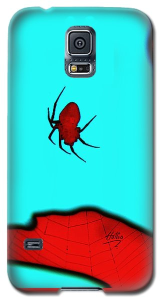 Abstract Spider Galaxy S5 Case by Linda Hollis