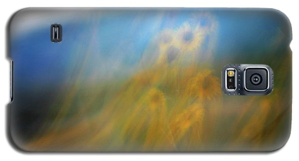Galaxy S5 Case featuring the photograph Abstract Sunflowers by Marilyn Hunt