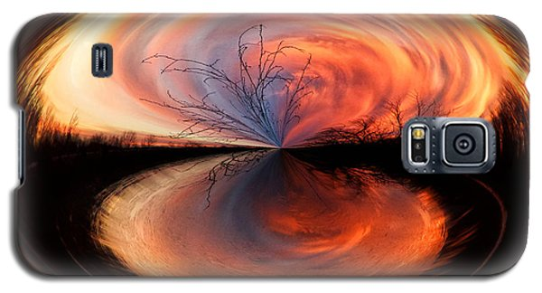 Abstract Sunrise Galaxy S5 Case