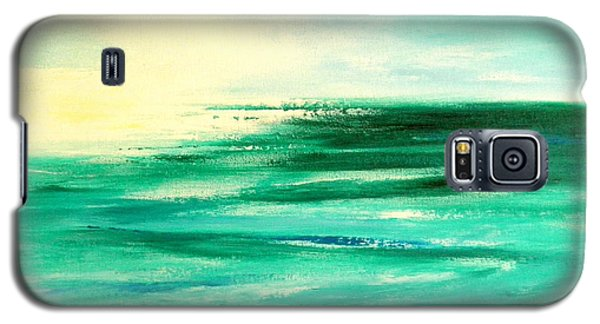 Abstract Sunset In Blue And Green Galaxy S5 Case