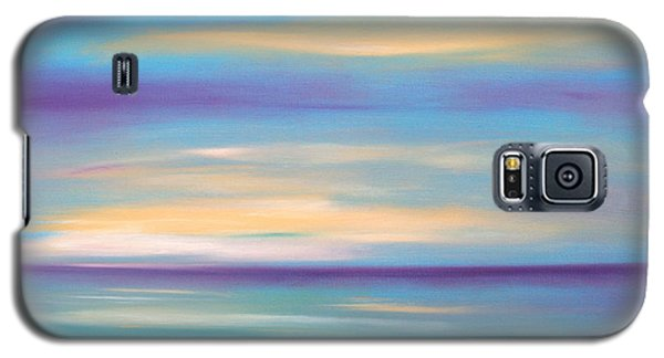 Abstract Sunset In Purple Blue And Yellow Galaxy S5 Case