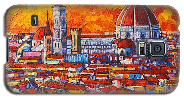 Abstract Sunset Over Duomo In Florence Italy Galaxy S5 Case by Ana Maria Edulescu