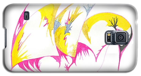 Abstract Swan Galaxy S5 Case by Mary Mikawoz