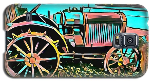 Galaxy S5 Case featuring the digital art Abstract Tractor Los Olivos California by Floyd Snyder