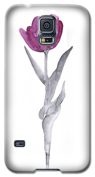 Tulip Galaxy S5 Case - Abstract Tulip Flower Watercolor Painting by Joanna Szmerdt