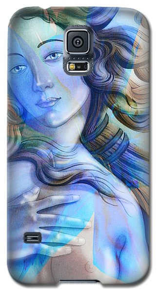 Galaxy S5 Case featuring the painting Abstract Venus Birth 4 by J- J- Espinoza