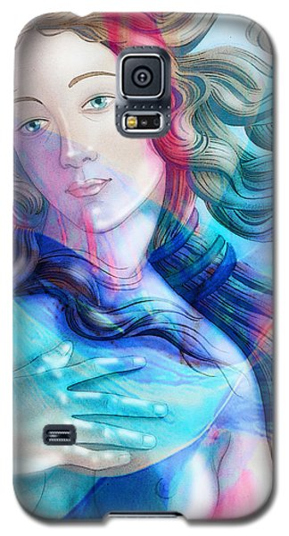 Galaxy S5 Case featuring the painting Abstract Venus Birth 6 by J- J- Espinoza