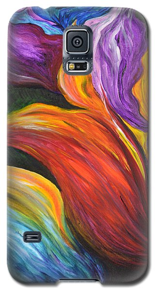 Abstract Vibrant Flowers Galaxy S5 Case