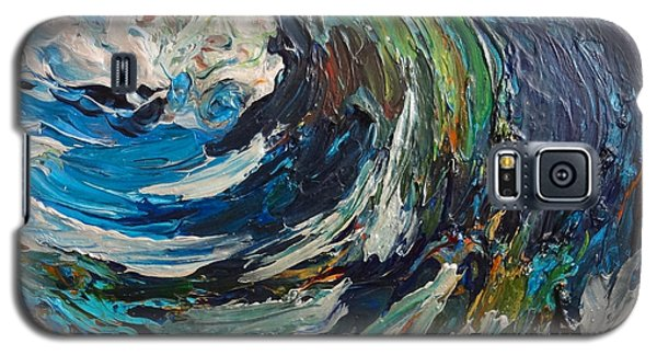 Abstract Wild Wave  Galaxy S5 Case