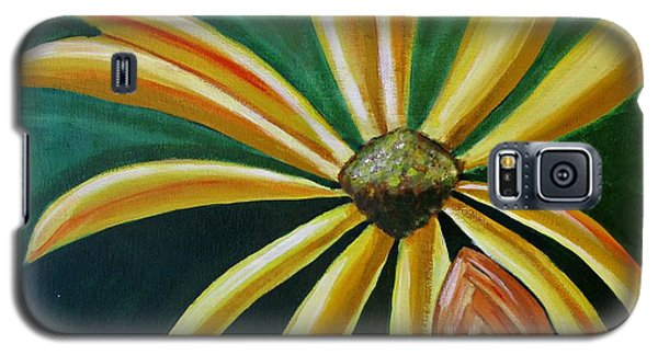 Abstract Yellow Sunflower Art Floral Painting Galaxy S5 Case