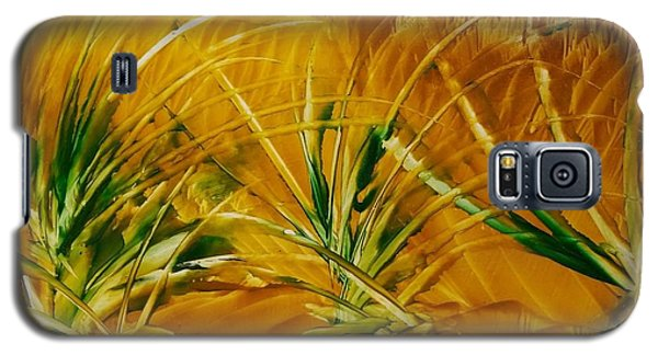 Abstract Yellow, Green Fields   Galaxy S5 Case