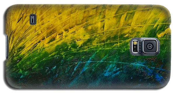 Abstract Yellow, Green With Dark Blue.   Galaxy S5 Case