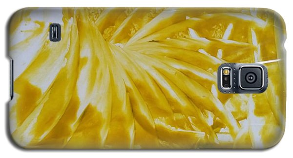 Abstract Yellow  Galaxy S5 Case
