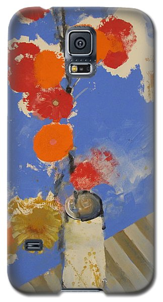 Abstracted Flowers In Ceramic Vase  Galaxy S5 Case