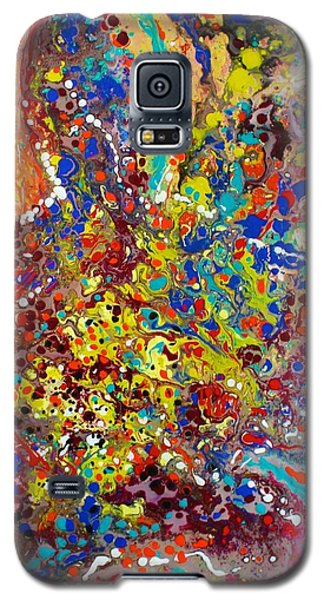 Galaxy S5 Case featuring the painting Abstracted Person Playing by Polly Castor