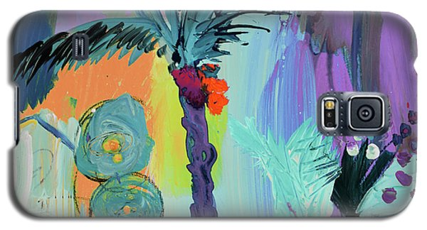 Abtract, Landscape With Palm Tree In California Galaxy S5 Case