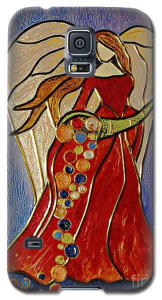 Galaxy S5 Case featuring the mixed media Abundance Angel by AmaS Art