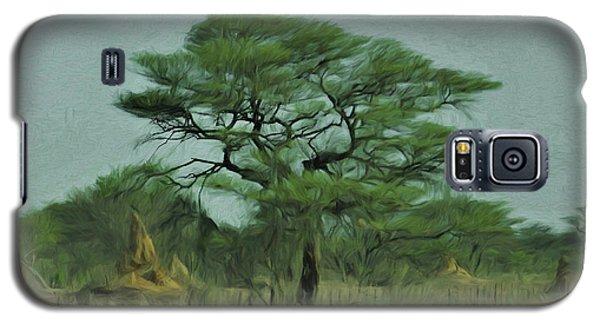 Acacia Tree And Termite Hills Galaxy S5 Case by Ernie Echols