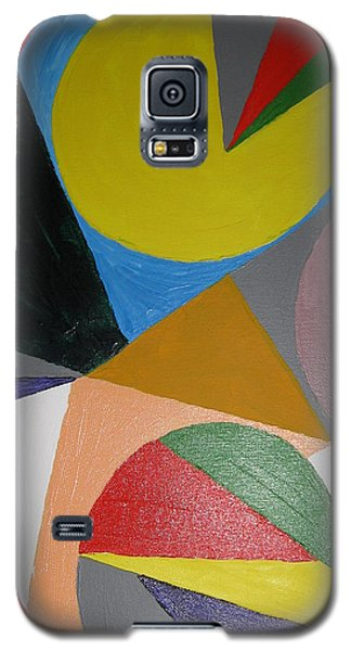 Galaxy S5 Case featuring the painting Accidental Pacman by Barbara Yearty