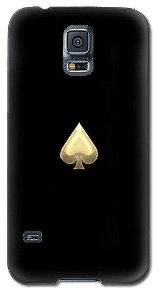 Ace Of Spades In Gold On Black   Galaxy S5 Case