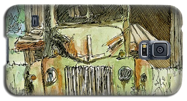 Aceo No 4 Old Ford Truck And Barn Wc Galaxy S5 Case