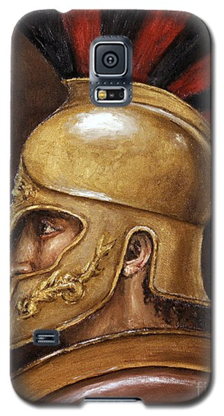 Galaxy S5 Case featuring the painting Achilles by Arturas Slapsys