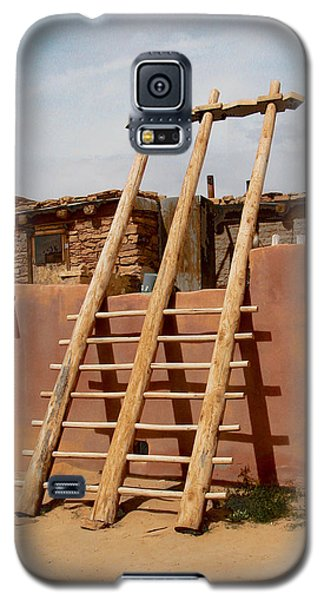 Galaxy S5 Case featuring the photograph Acoma Ladder by R Thomas Berner