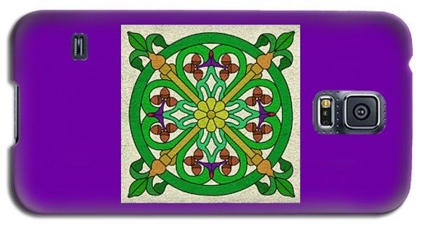 Acorn On Cream/purple Galaxy S5 Case